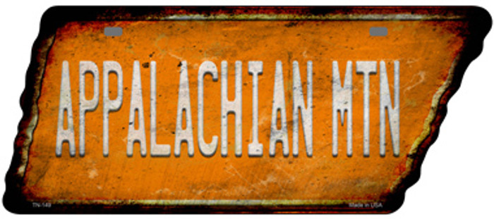 Appalachian Mtn Novelty Rusty Effect Metal Tennessee License Plate Tag TN-149