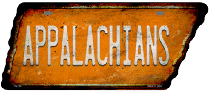 Appalachians Novelty Rusty Effect Metal Tennessee License Plate Tag TN-150