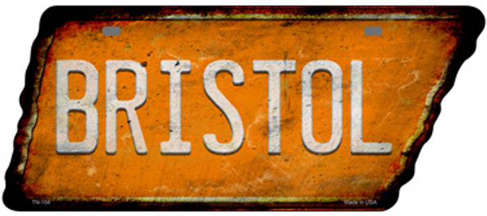 Bristol Novelty Rusty Effect Metal Tennessee License Plate Tag TN-154