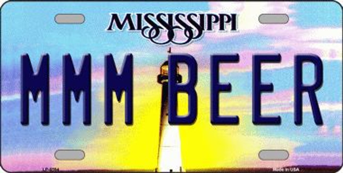 MMM Beer Mississippi Novelty Metal License Plate