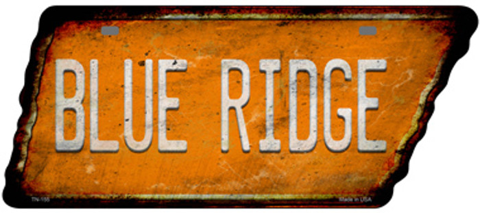 Blue Ridge Novelty Rusty Effect Metal Tennessee License Plate Tag TN-155