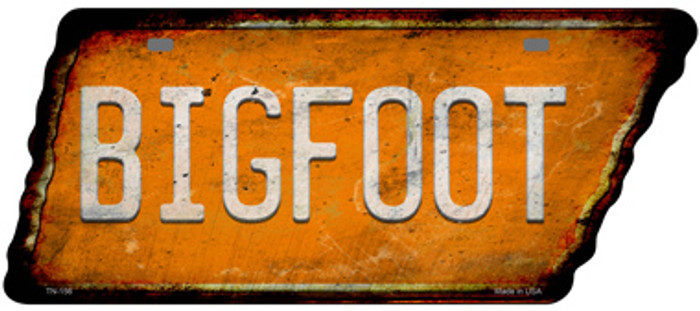 Bigfoot Novelty Rusty Effect Metal Tennessee License Plate Tag TN-156