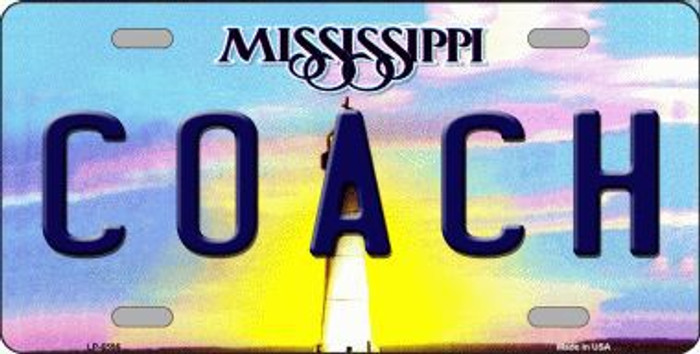 Coach Mississippi Novelty Metal License Plate