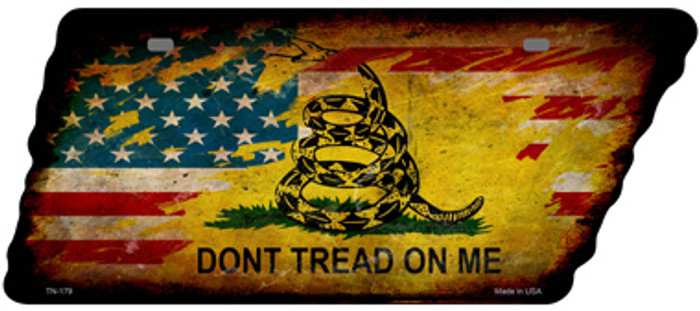 American Dont Tread Novelty Rusty Effect Metal Tennessee License Plate Tag TN-179