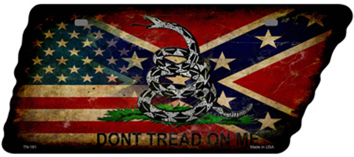 American Confederate Dont Tread Novelty Rusty Effect Metal Tennessee License Plate Tag TN-181