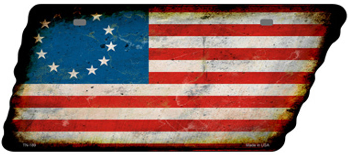 Betsy Ross American Flag Novelty Rusty Effect Metal Tennessee License Plate Tag TN-189