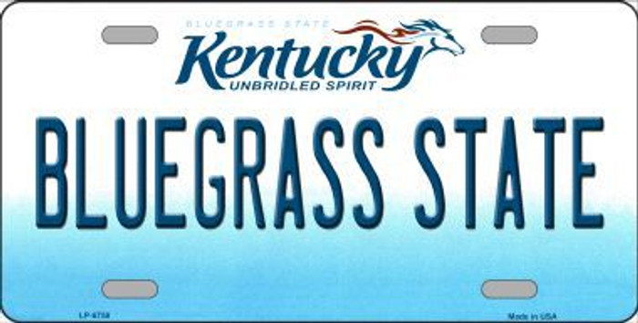 Bluegrass State Kentucky Novelty Metal License Plate LP-6758