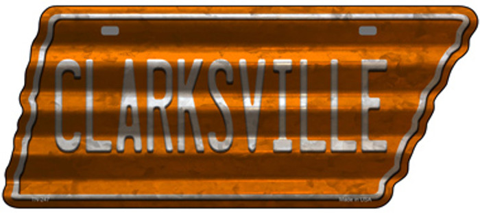Clarksville Novelty Corrugated Effect Metal Tennessee License Plate Tag TN-247