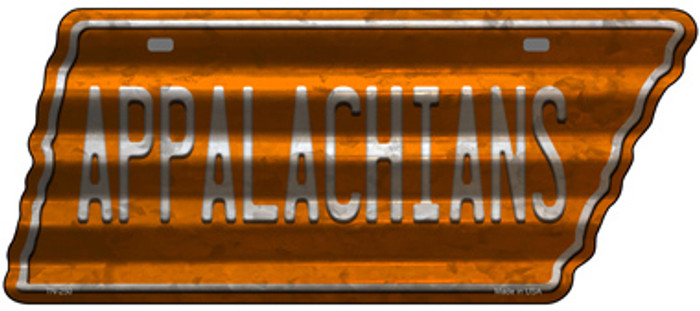 Appalachians Novelty Corrugated Effect Metal Tennessee License Plate Tag TN-250