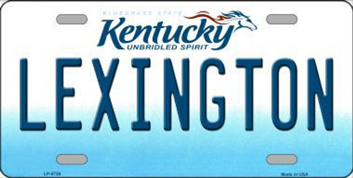 Lexington Kentucky Novelty Metal License Plate