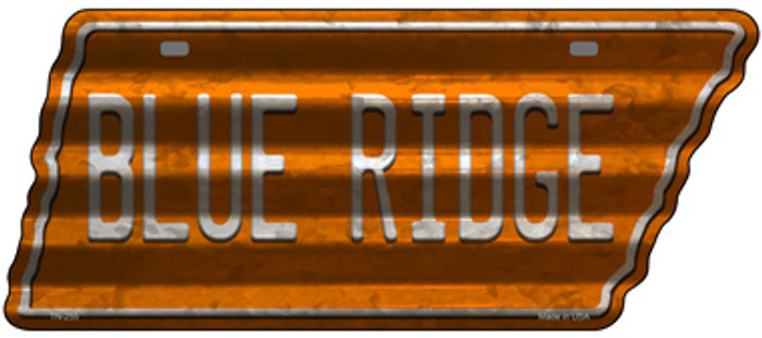 Blue Ridge Novelty Corrugated Effect Metal Tennessee License Plate Tag TN-255