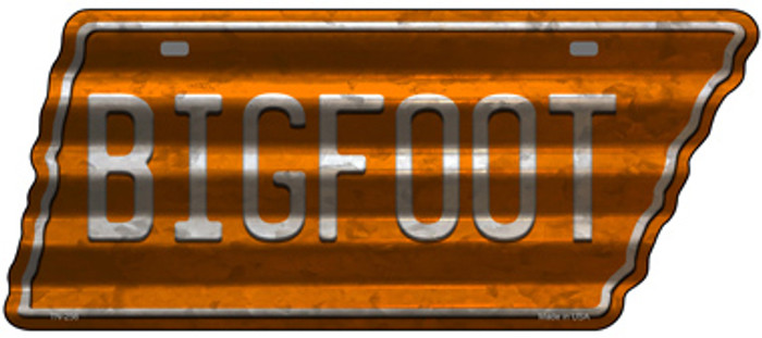 Bigfoot Novelty Corrugated Effect Metal Tennessee License Plate Tag TN-256