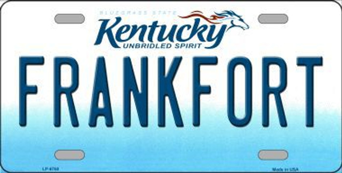 Frankfort Kentucky Novelty Metal License Plate