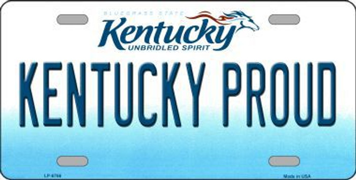 Kentucky Proud Novelty Metal License Plate