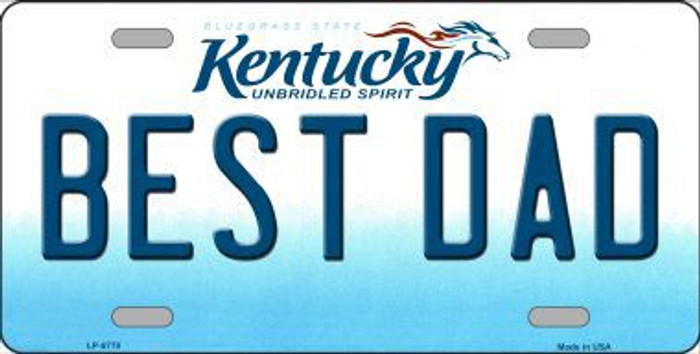 Best Dad Kentucky Novelty Metal License Plate