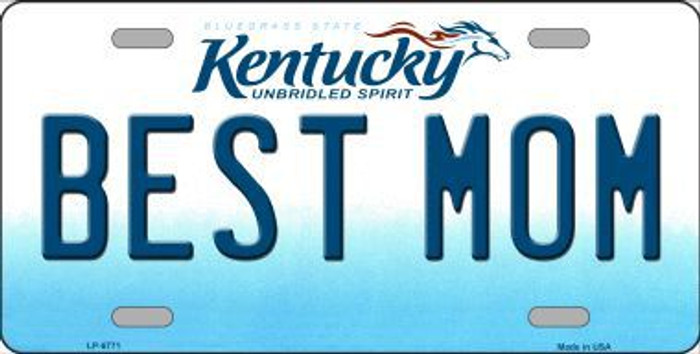 Best Mom Kentucky Novelty Metal License Plate