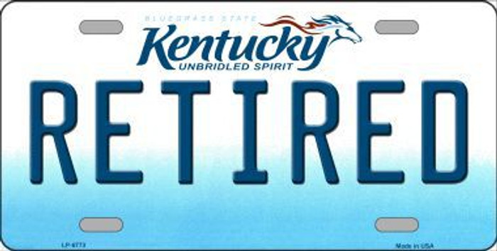 Retired Kentucky Novelty Metal License Plate