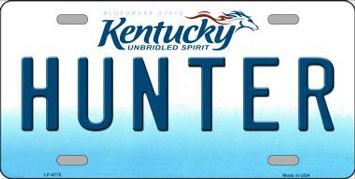 Hunter Kentucky Novelty Metal License Plate