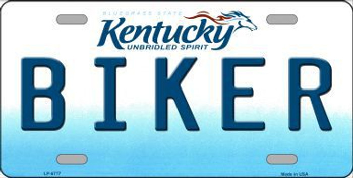 Biker Kentucky Novelty Metal License Plate