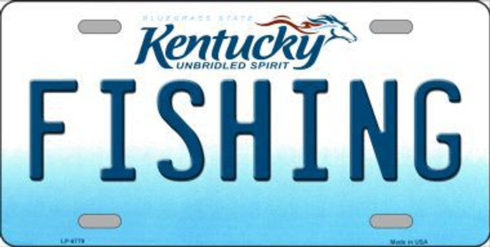 Fishing Kentucky Novelty Metal License Plate