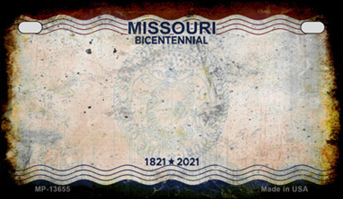Missouri Bicentennial Novelty Metal Motorcycle Plate MP-13655