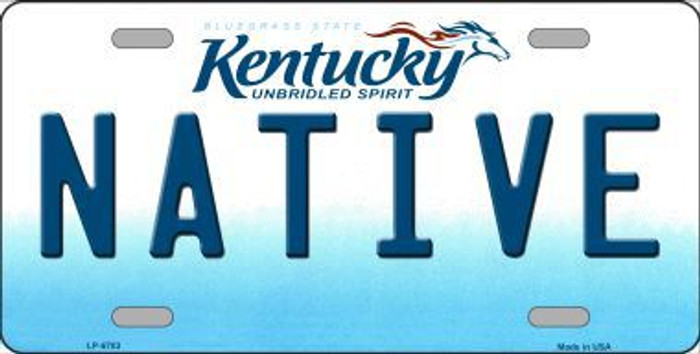 Native Kentucky Novelty Metal License Plate