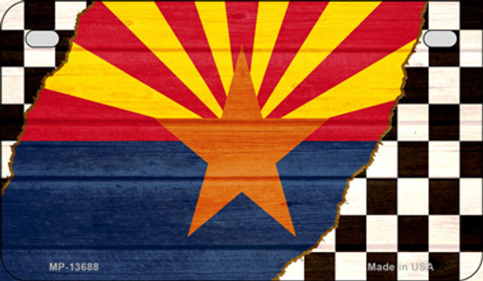Arizona Racing Flag Novelty Metal Motorcycle Plate MP-13688