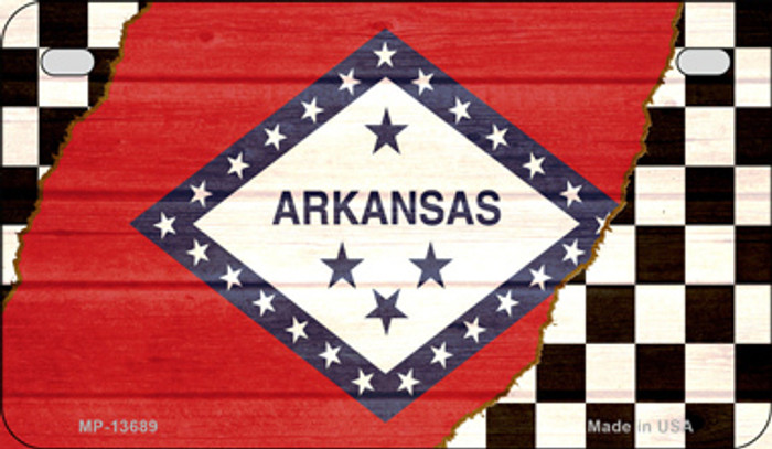 Arkansas Racing Flag Novelty Metal Motorcycle Plate MP-13689