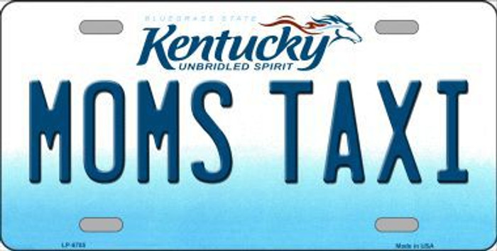 Moms Taxi Kentucky Novelty Metal License Plate