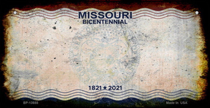 Missouri Bicentennial Novelty Metal Bicycle Plate BP-13655