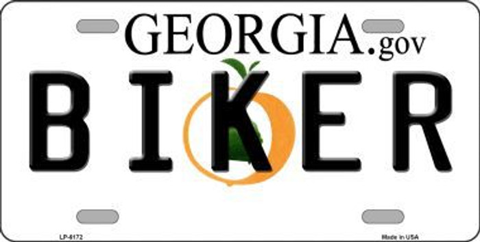 Biker Georgia Novelty Metal License Plate