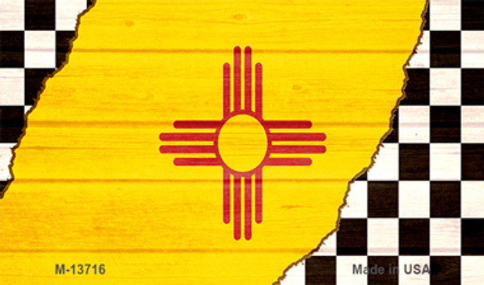 New Mexico Racing Flag Novelty Metal Magnet M-13716
