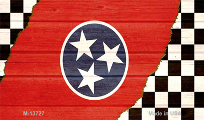 Tennessee Racing Flag Novelty Metal Magnet M-13727