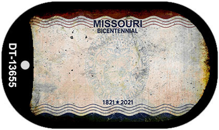 Missouri Bicentennial Novelty Metal Dog Tag Necklace DT-13655