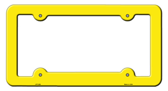 Yellow Solid Novelty Metal License Plate Frame LPF-006