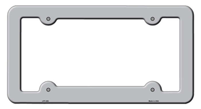 Gray Solid Novelty Metal License Plate Frame LPF-009