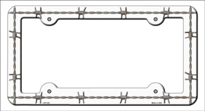 Barbed Wire Novelty Metal License Plate Frame LPF-018
