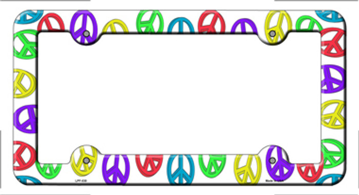 Peace Signs Novelty Metal License Plate Frame LPF-030