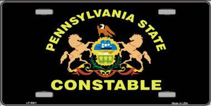 PA Constable Star Seal Metal Novelty License Plate
