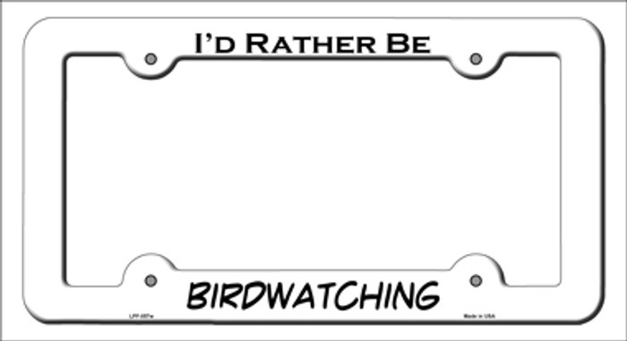 Birdwatching Novelty Metal License Plate Frame LPF-057