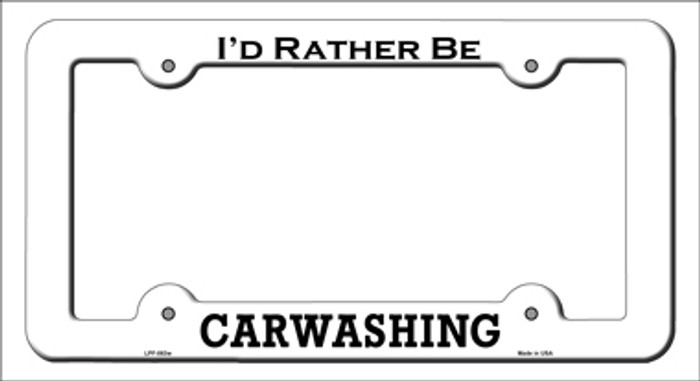 Carwashing Novelty Metal License Plate Frame LPF-063