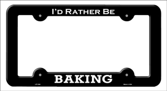 Baking Novelty Metal License Plate Frame LPF-064