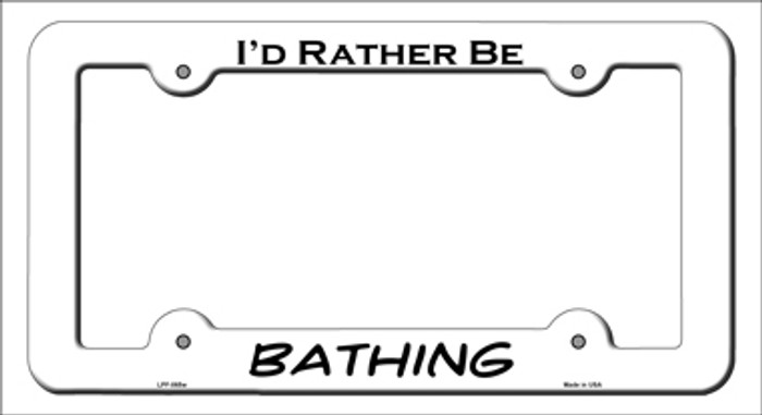 Bathing Novelty Metal License Plate Frame LPF-065