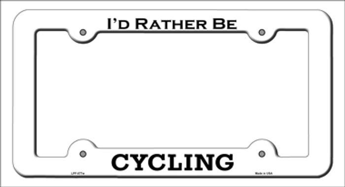 Cycling Novelty Metal License Plate Frame LPF-077