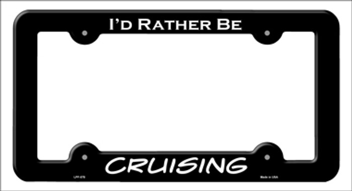 Cruising Novelty Metal License Plate Frame LPF-078