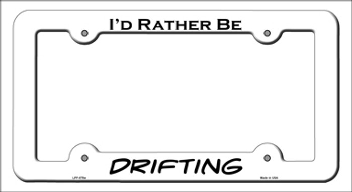 Drifting Novelty Metal License Plate Frame LPF-079
