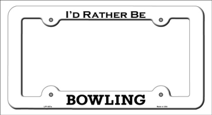 Bowling Novelty Metal License Plate Frame LPF-087