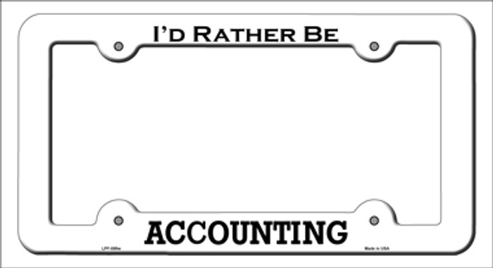 Accounting Novelty Metal License Plate Frame LPF-089