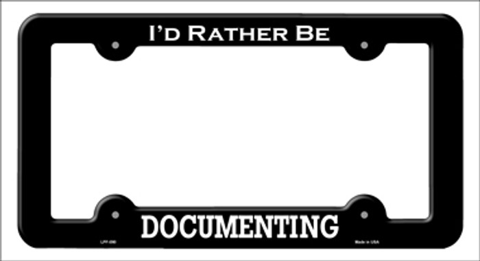 Documenting Novelty Metal License Plate Frame LPF-090