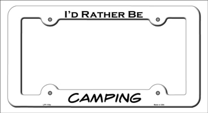 Camping Novelty Metal License Plate Frame LPF-115